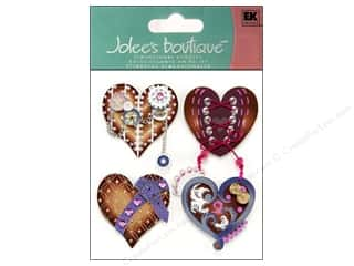 Jolee's Boutique Stickers Steampunk Hearts