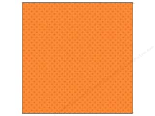Clearance Doodlebug Glitter: Doodlebug Paper 12 x 12 in. Sugar Coated Dot Tangerine (25 sheets)