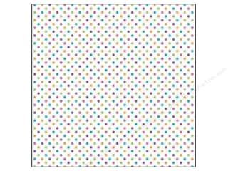 Doodlebug Paper 12 x 12 in. Dot White Rainbow (25 sheets)