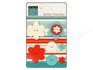 button: Bazzill Buttons Stackers 9 pc. Flower
