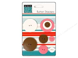 Sew-on Buttons: Bazzill Buttons Stackers 9 pc. Circle
