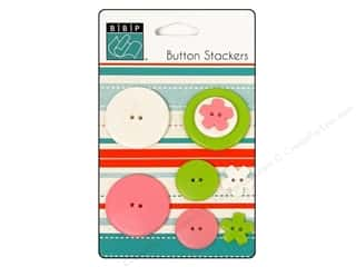 Flowers Buttons: Bazzill Buttons Stackers 9 pc. Pinwheel