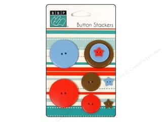 Bazzill Blue: Bazzill Buttons Stackers 9 pc. Star