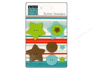 button: Bazzill Buttons Stackers 9 pc. Double Star