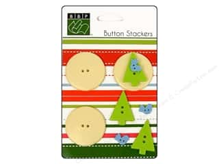 Bazzill Blue: Bazzill Buttons Stackers 9 pc. Tree Bird