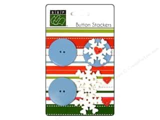 button: Bazzill Buttons Stackers Snowflake 9pc