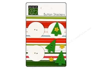 Bazzill Buttons Stackers Christmas Tree 9pc