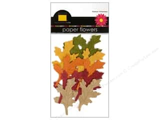 Bazzill Flowers Paper Oak Leaves 10pc