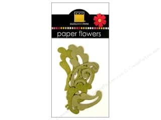 Flowers Papers: Bazzill Flowers Paper Leaves 8 pc. Lovely Leaves