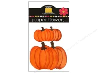 Bazzill Flowers Paper Fall Pumpkins 4pc