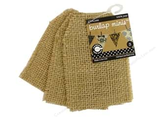 Canvas Corp Blank Burlap Shape Mini Tag 3pc