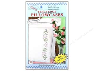 Pillow Shams Jack Dempsey Pillowcase Perle Edge White: Jack Dempsey Pillowcase Perle Edge White Starflowers