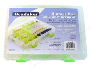 Beadalon Organizer Storage Box 10x7x1.5&quot; 12 Divdr