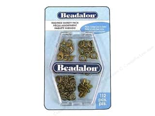 Beadalon Findings Variety Pack Antique Brass 112pc