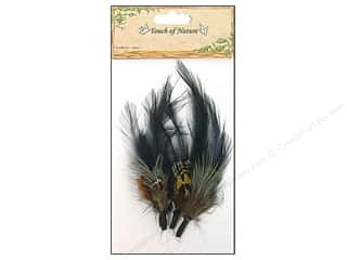 "Feathers Black: Midwest Design Feather Pick 4"" Black/Brown 3pc"