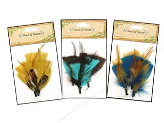 Feathers: Midwest Design Feather Pick Turkey Flat Assorted 3pc
