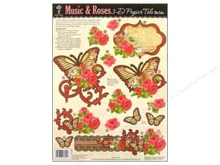 Hot Off The Press Die Cut Papier Tole Music&Roses