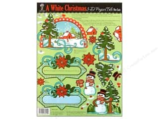 Hot Off The Press Die Cut Papier Tole WhtChristmas