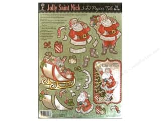 Hot Off The Press Die Cut Papier Tole Saint Nick