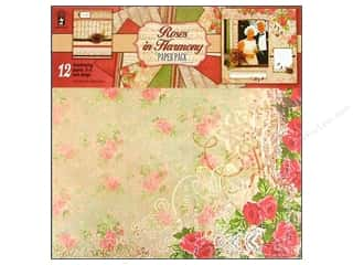 "Cabbage Rose Hot Off The Press Paper Pack: Hot Off The Press Paper Pack 12""x 12"" Roses In Harmony"