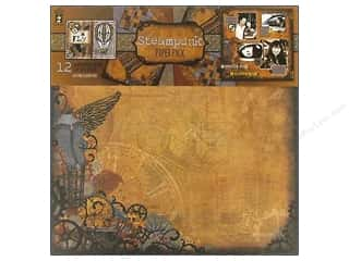 "Hot Off The Press Paper Pack 12""x 12"" Steampunk"