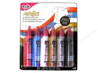 Tulip 3D Fabric Paint Set Metallics 6pc