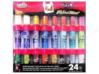 Basic Components Clearance: Tulip Fashion Glitter .24oz Assorted 24pc