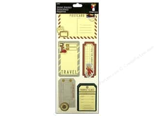 Imaginisce Dimensional Stickers: Imaginisce Stickers Stacker Bon Voyage Luggage Tags