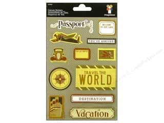 Imaginisce Dimensional Stickers: Imaginisce Stickers Bon Voyage Canvas Passport