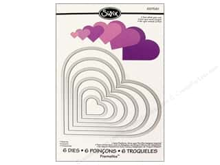 Scrapbooking & Paper Crafts Valentine's Day Gifts: Sizzix Framelits Die Set 6PK Hearts