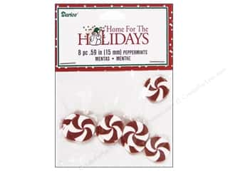 Darice Holiday Decor Claydough Peppermints 15mm 8pc