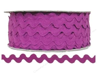 Ribbon Work Tapes: Ric Rac by Cheep Trims  1/2 in. Magenta (24 yards)