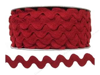 Ribbon Work Tapes: Ric Rac by Cheep Trims  11/16 in. Barn Red (24 yards)
