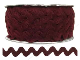 Cheep Trims Ric Rac jumbo: Ric Rac by Cheep Trims  11/16 in. Merlot (24 yards)
