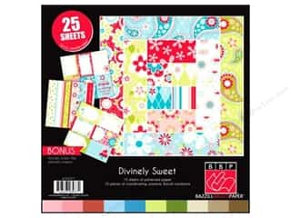 "Weekly Specials June Tailor Rulers: Bazzill Multi Pack 12""x 12"" Divinely 25pc"