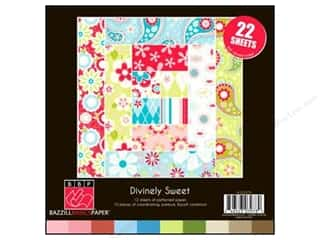Clearance Bazzill Lickety Slip Journaling Cards: Bazzill 8 x 8 in. Multi Pack Divinely Sweet 22 pc.