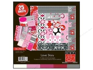 "Scrapbooking & Paper Crafts: Bazzill Multi Pack 12""x 12"" Love 25pc"