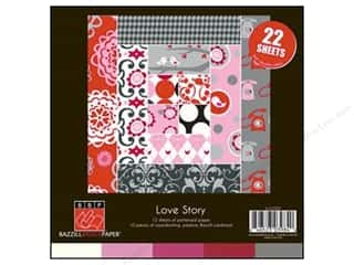 Bazzill $8 - $12: Bazzill 8 x 8 in. Multi Pack Love Story 22 pc.