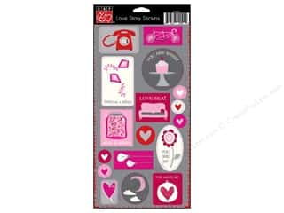 Stickers Love & Romance: Bazzill Stickers Cardstock Love Story Embellishments