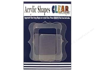 Clear Scraps Acrylic Shape: Clear Scraps Clearly Framed Acrylic Frames 4 pc Deco