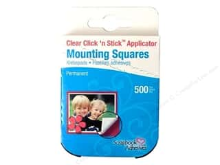 3L: 3L Scrapbook Adhesives Click 'n Stick Mounting Squares 500 pc. Clear