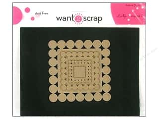 Want 2 Scrap Clear: Want2Scrap Nestaboard Spellbinders Squares Beaded