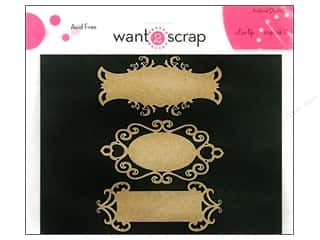 Want2Scrap Nestaboard Spellbinders Fancy Tags Two