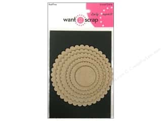Want2Scrap Nestaboard Spellbinders Circles Scallop Small