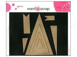 Clearance Want2Scrap Nestaboard: Want2Scrap Nestaboard Spellbinders Nested Pennants
