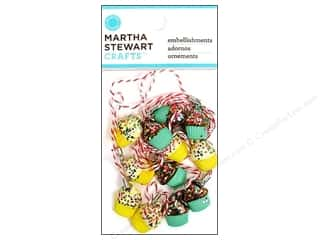 Martha Stewart Embellishment Charms Modern Festive