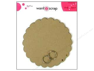 Clearance Want2Scrap Album: Want2Scrap Album Grand Spellbinders Circles Scallop