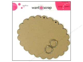 Clearance Want2Scrap Album: Want2Scrap Album Grand Spellbinders Ovals Scallop