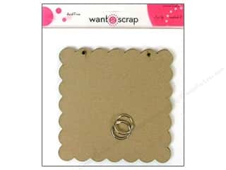 Clearance Want2Scrap Album: Want2Scrap Album Grand Spellbinders Square Scallop