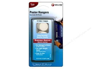 Hooks Basic Components: Velcro Removable Poster Hanger 1/4 lb. White 12pc